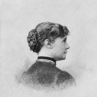 Constance Fenimore Woolson; engraving circa 1875
