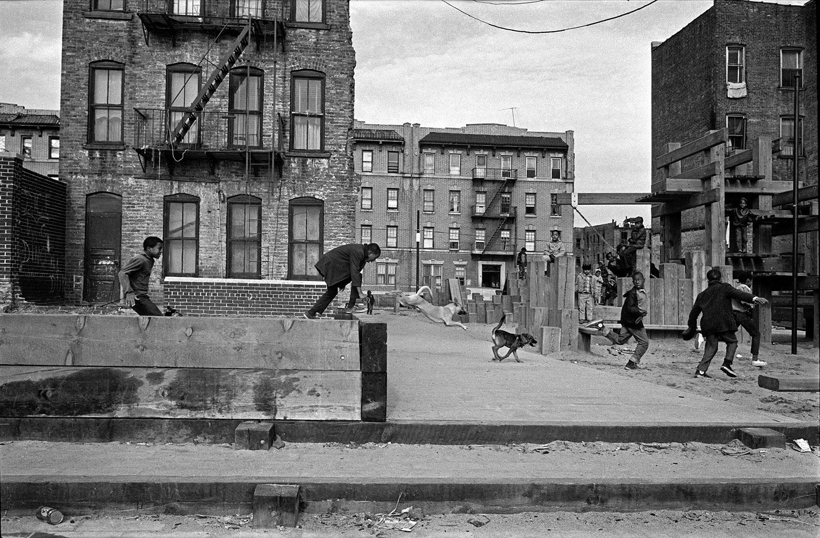 Kids in a Brooklyn neighborhood, 1969