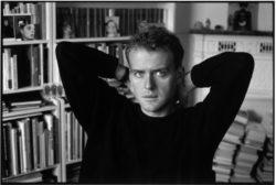 Hervé Guibert at home, Paris, September 1987