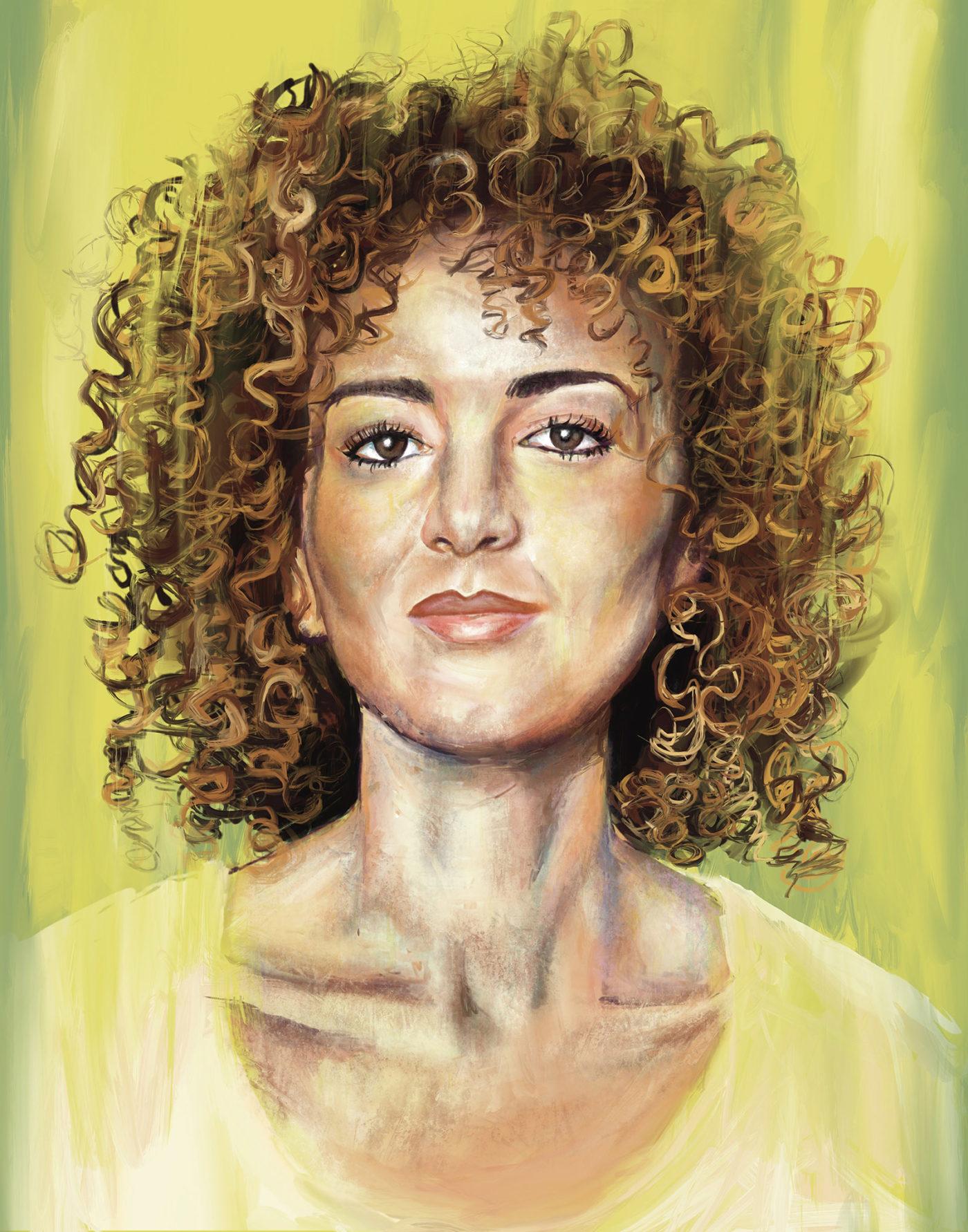 Leila Slimani; illustration by Johnalynn Holland