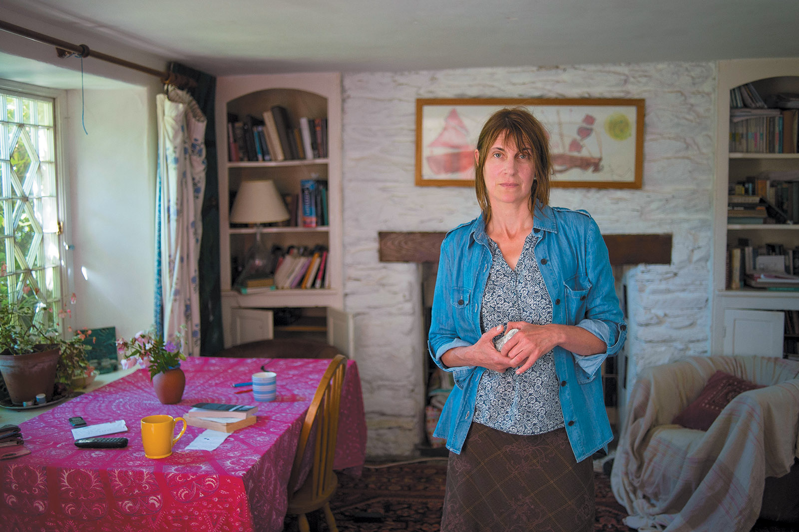 Alice Oswald at her house, South Devon, England