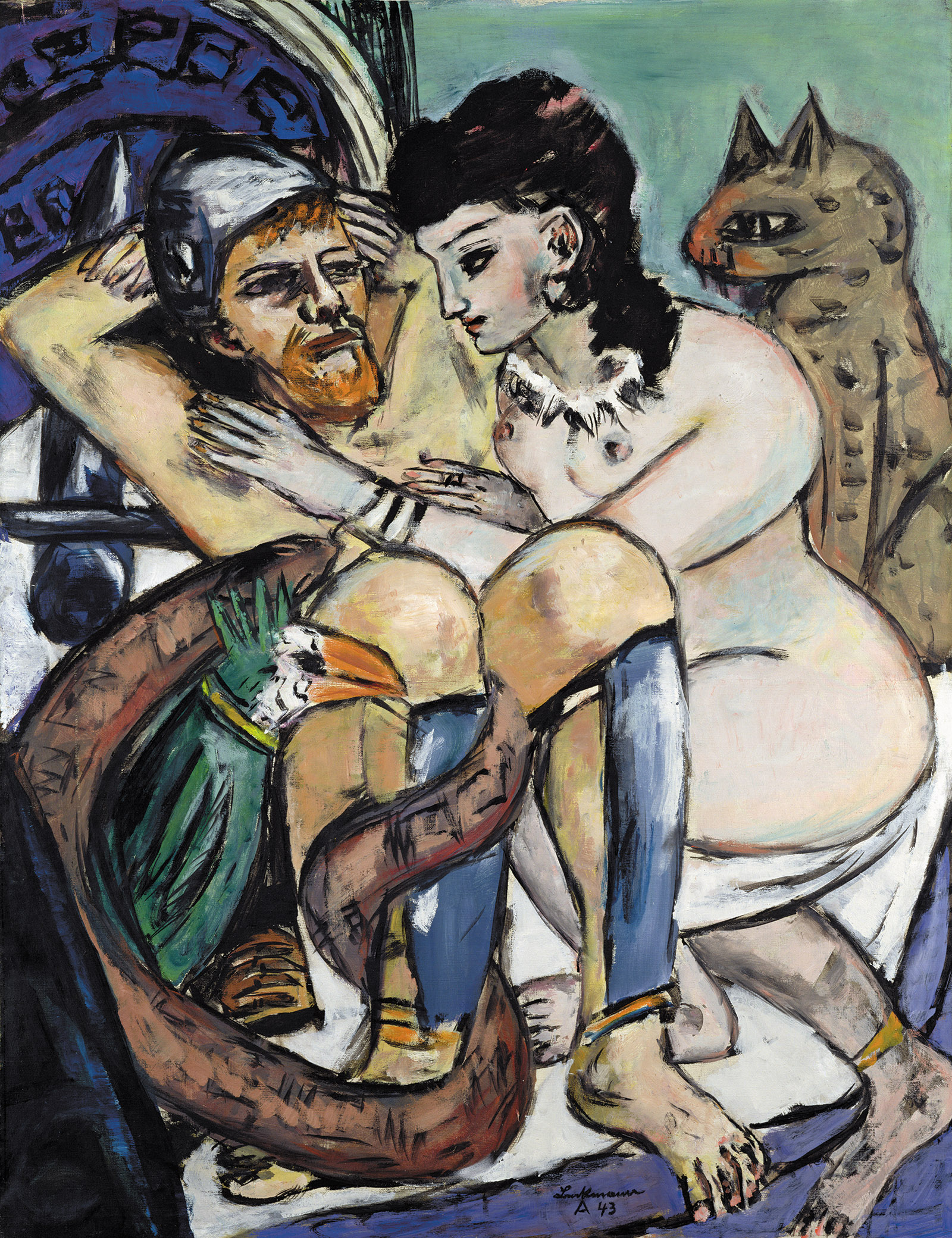 Odysseus and Calypso; painting by Max Beckmann