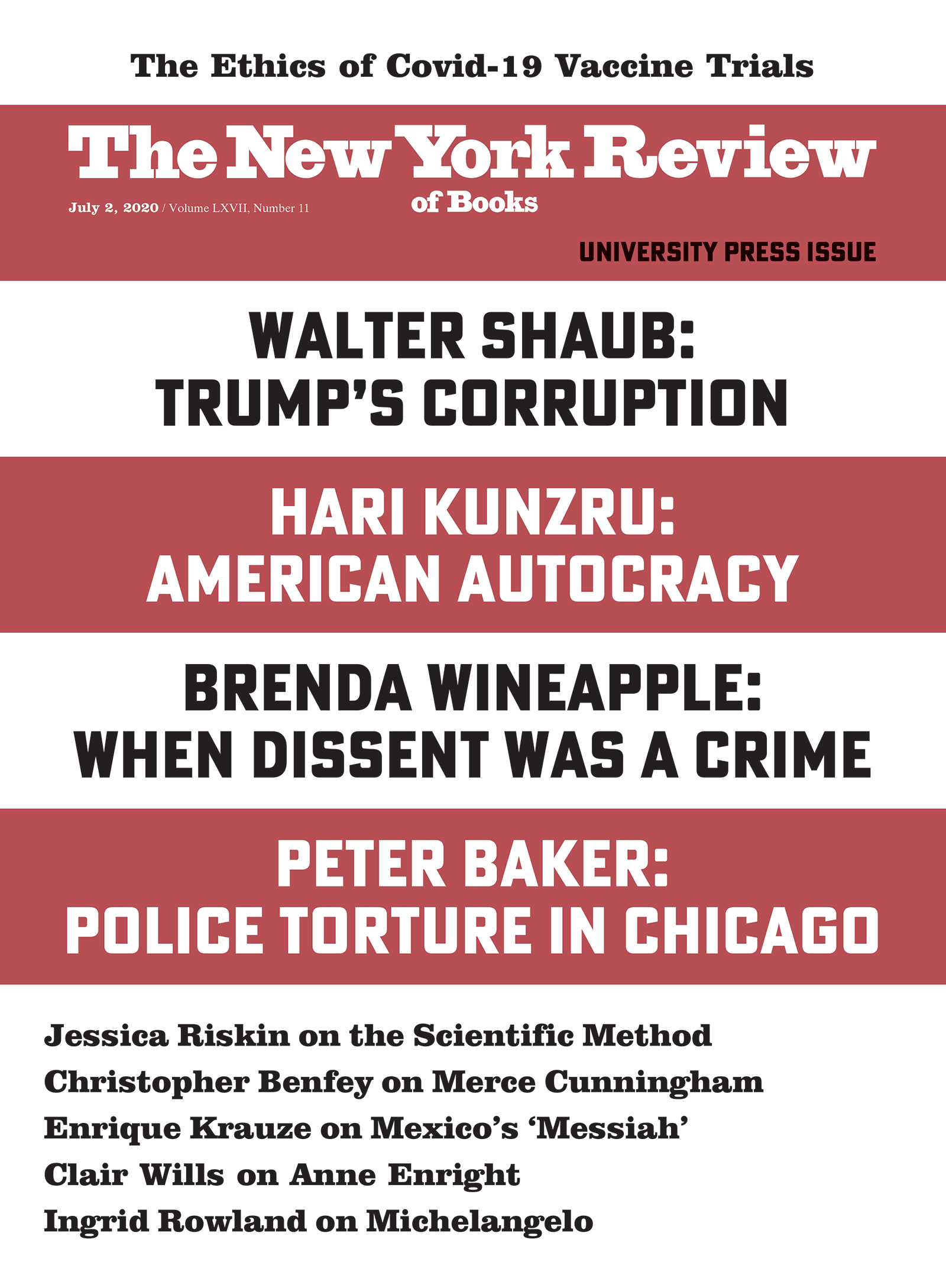 Image of the July 2, 2020 issue cover.