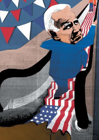 Joe Biden; illustration by Ellie Foreman-Peck