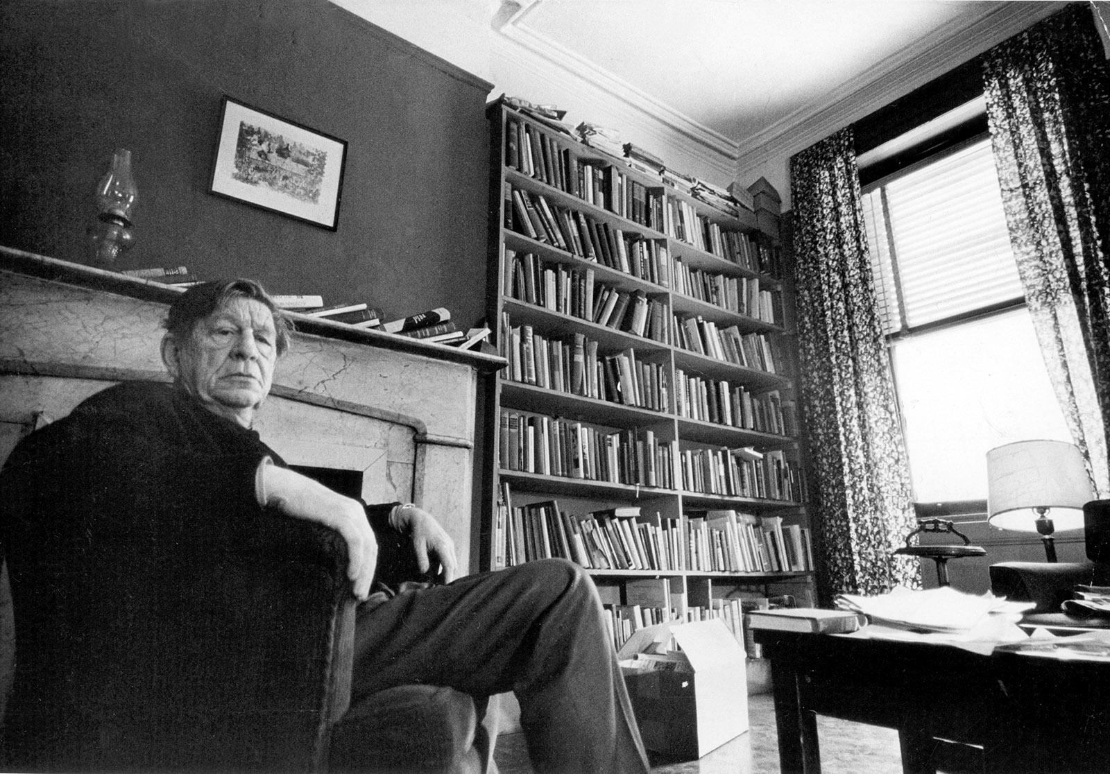 W.H. Auden in his apartment, Manhattan, 1972