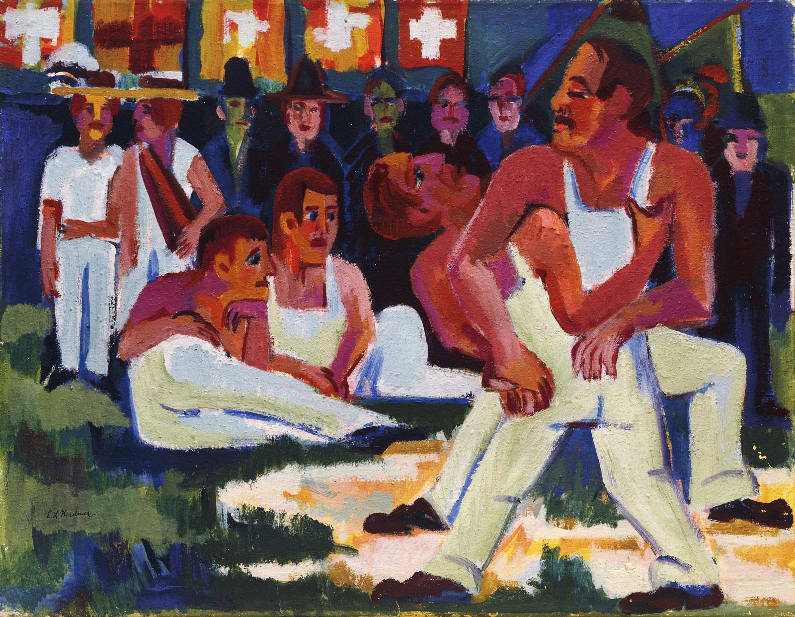 Ernst Ludwig Kirchner: Wrestler; Ringer, 1923