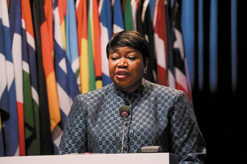 International Criminal Court prosecutor Fatou Bensouda addressing the court, The Hague, December 2019