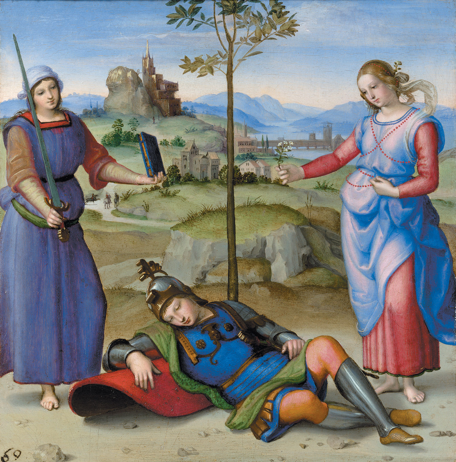 An Allegory (The Vision of a Knight); painting by Raphael
