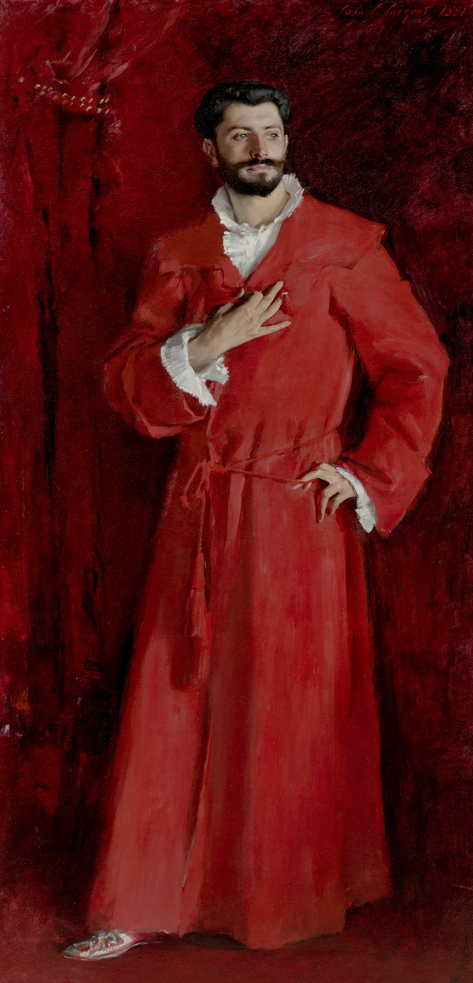 Dr. Pozzi at Home; painting by John Singer Sargent