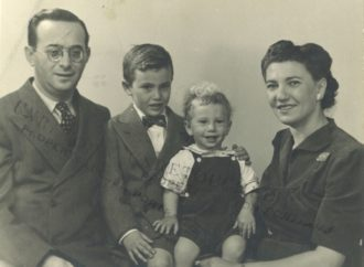 The Neugeborens (the author, second left), Brooklyn, circa 1945