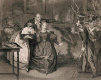 An engraving of the capture of the Duchesse de Berry at Nantes, 1832