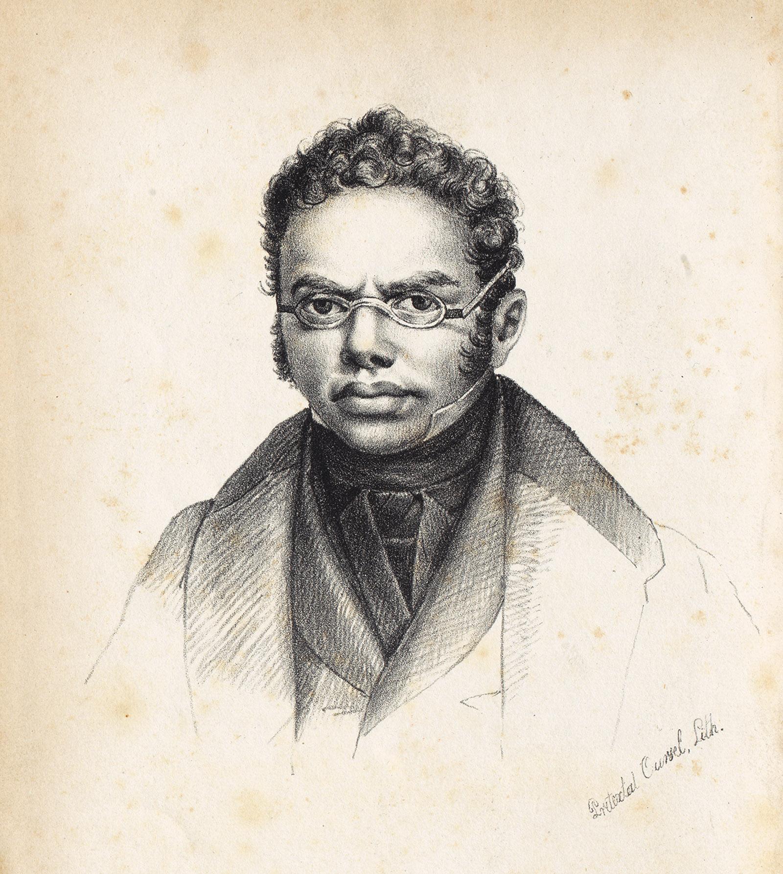 An etching of Simon Deutz, 1836
