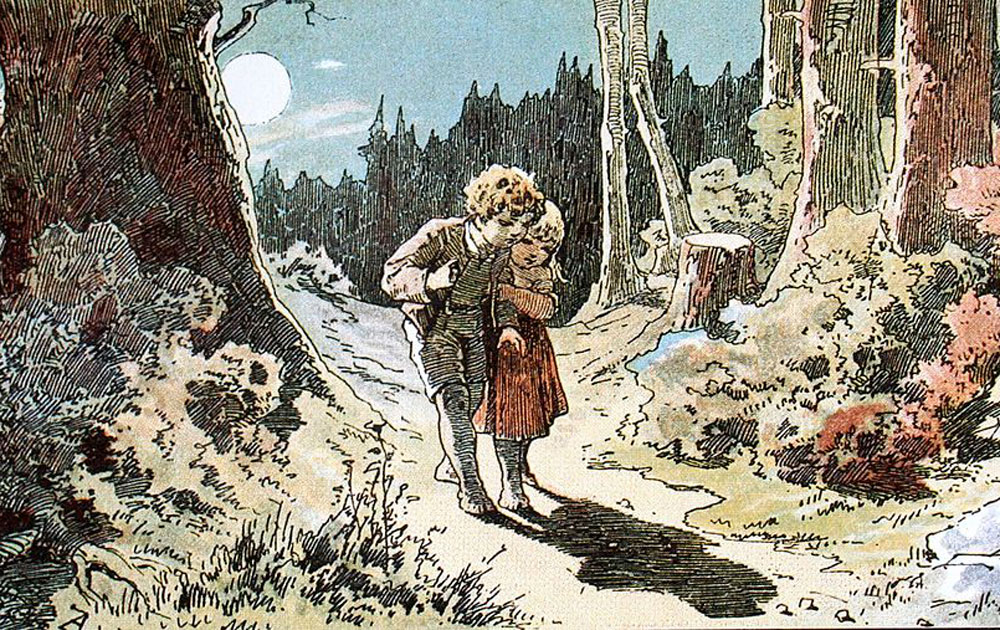 Illustration by Alexander Zick of Hansel and Gretel, nineteenth century