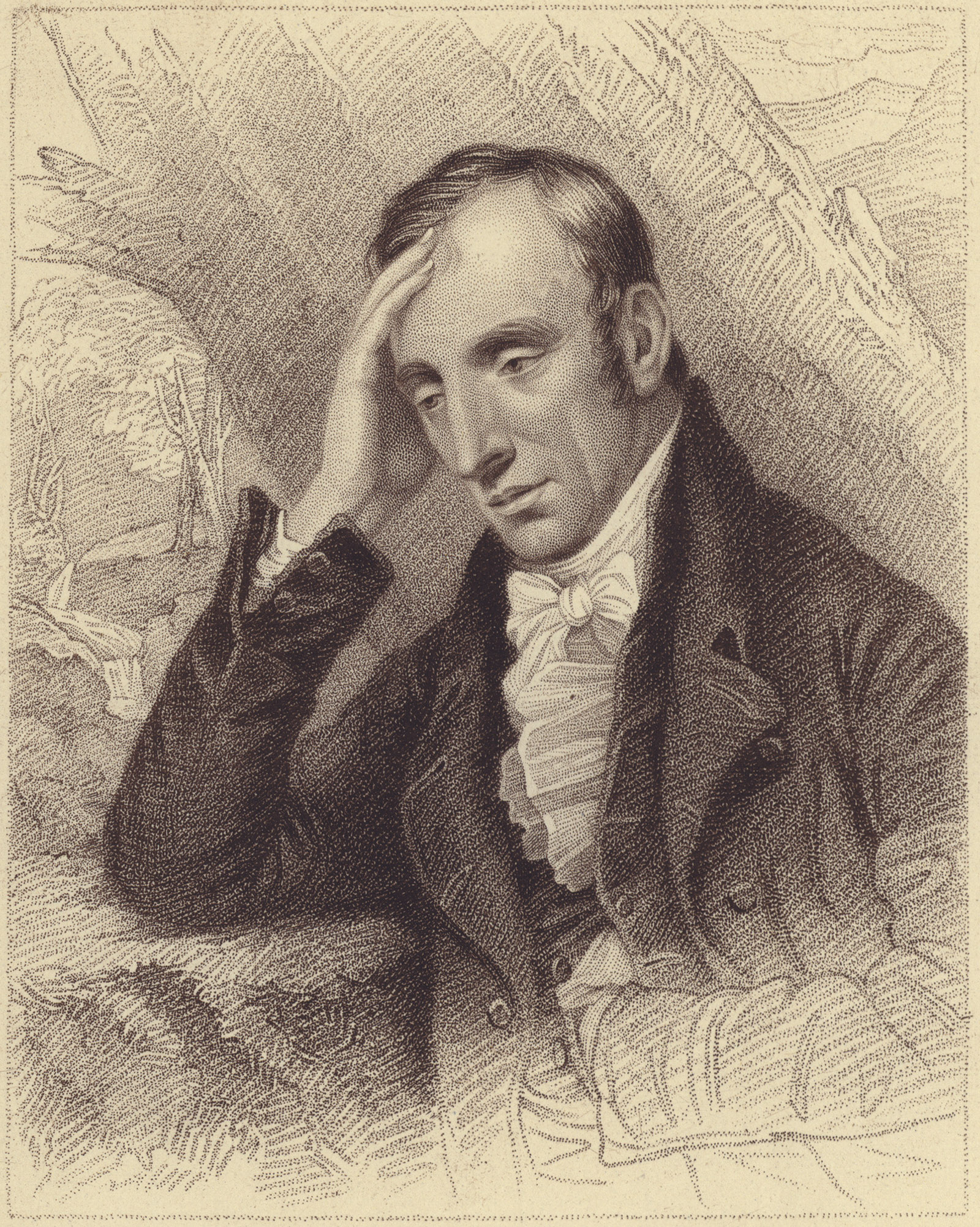 William Wordsworth; engraving by Henry Meyer, after Richard Carruthers, circa 1819