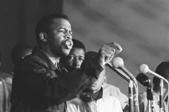 John Lewis speaking at a Student Nonviolent Coordinating Committee (SNCC) event in Greenwood, Mississippi, 1963