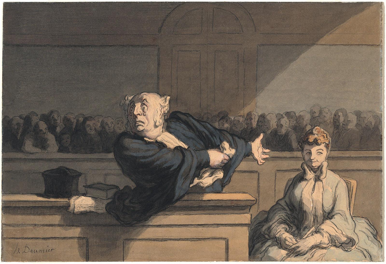 Honoré Daumier: Le Défenseur, circa 1862–1865