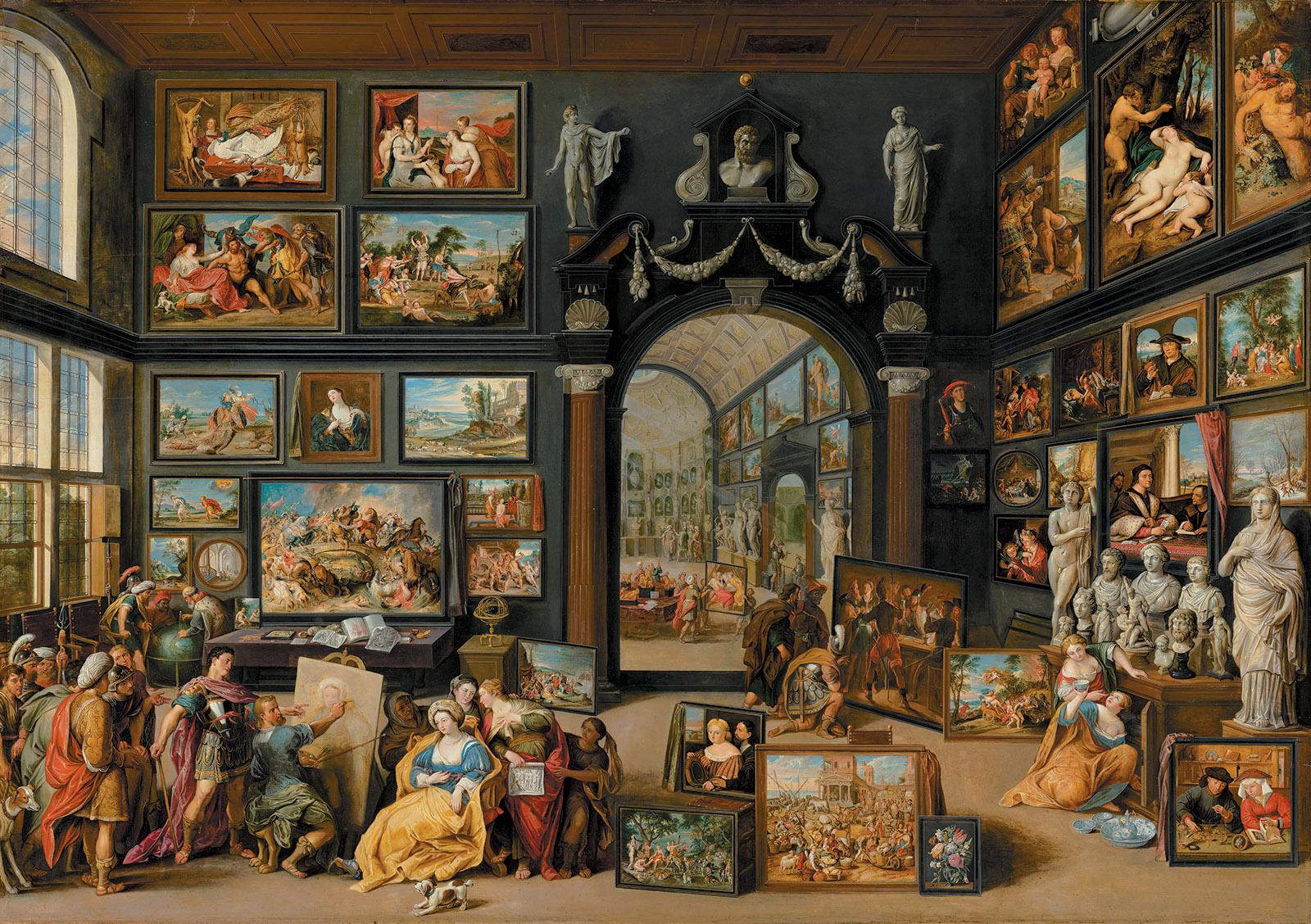 Painting of an art room by Willem van Haecht, circa 1630