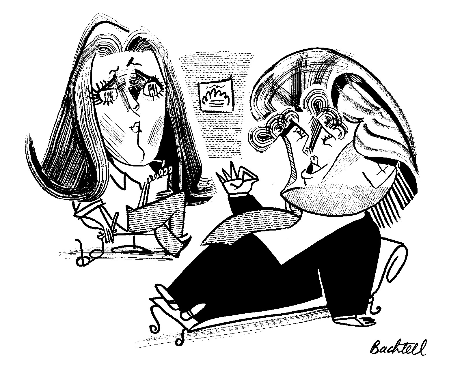 Mary L. Trump and Donald Trump; Illustration by Tom Bachtell