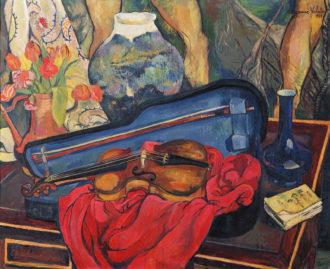 Suzanne (Marie-Clémentine) Valadon: The Violin Case, 1923