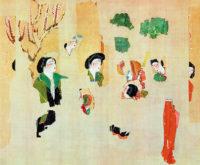 Fragments of a silk painting from the Astana Tombs, Xinjiang, China, circa 200–800