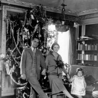 F. Scott Fitzgerald, Zelda Fitzgerald, and their daughter, Frances, Paris, 1925
