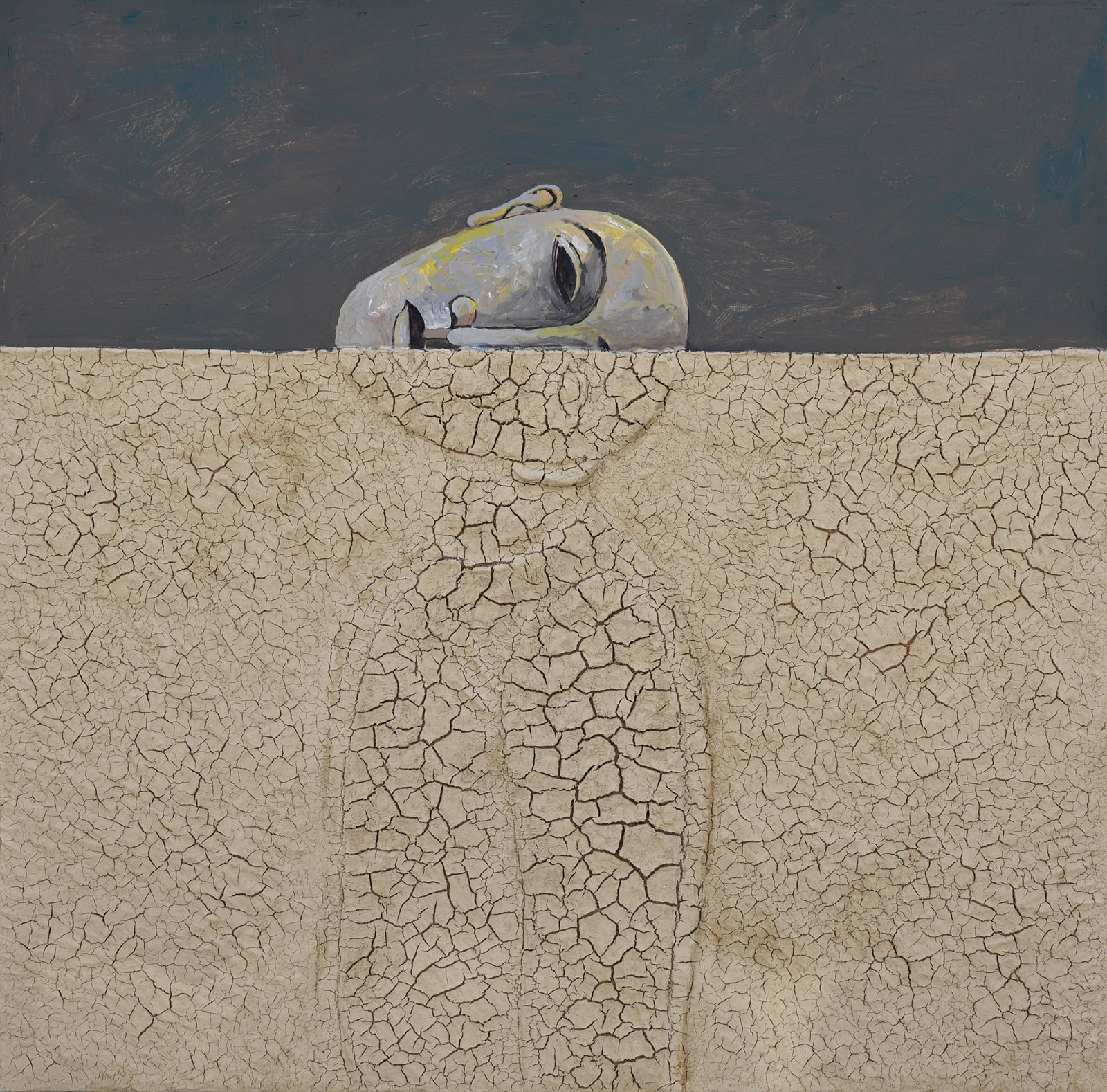 Temporary Escape; painting by Sliman Mansour