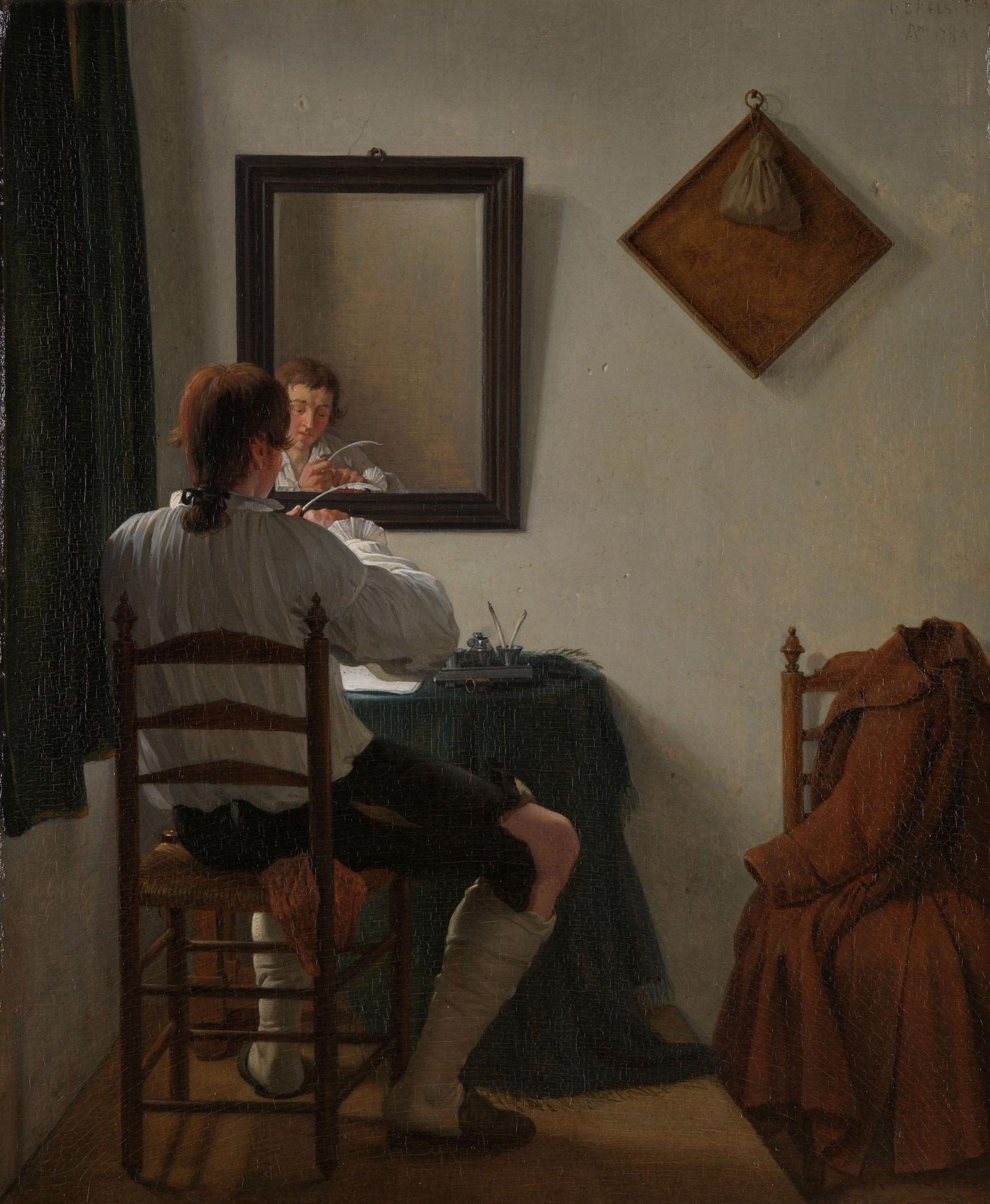 Jan Ekels (II): A Writer Trimming his Pen, 1784