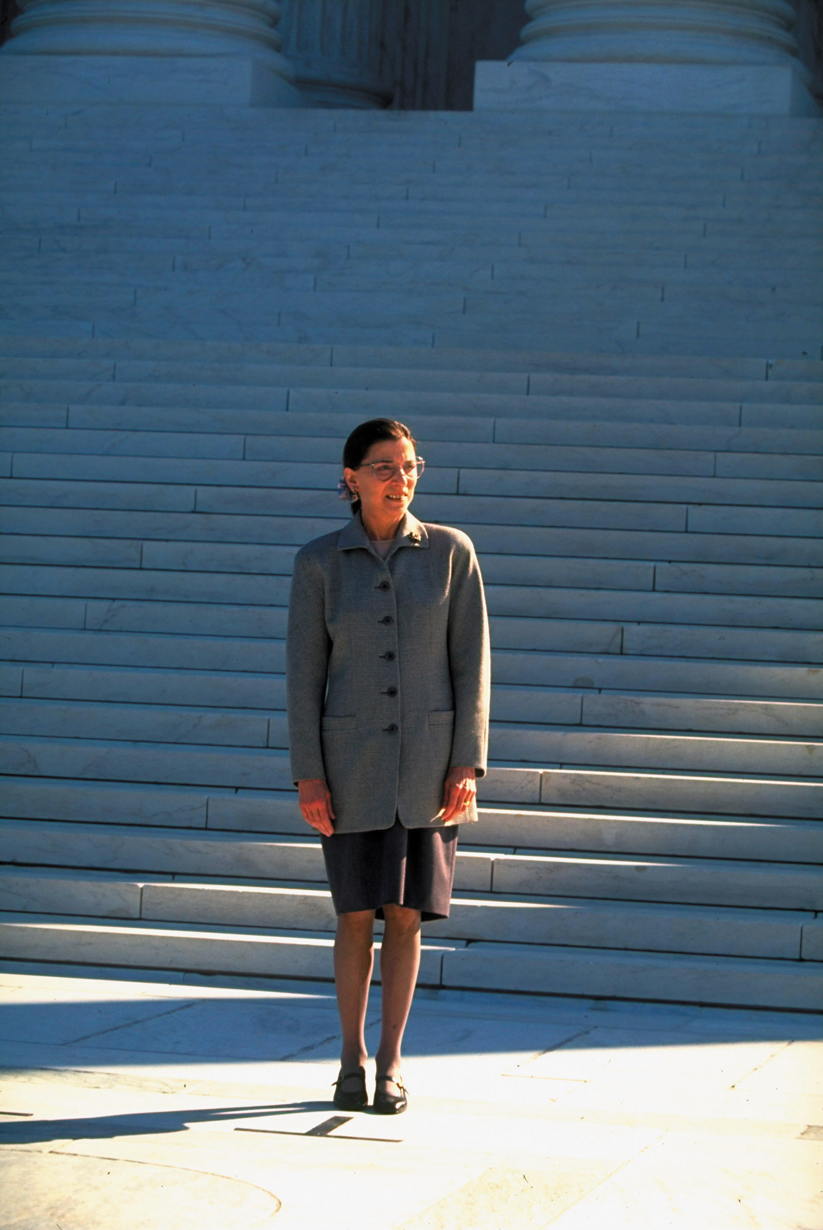 Ruth Bader Ginsburg at the Supreme Court shortly after being sworn in, Washington, D.C., August 1993
