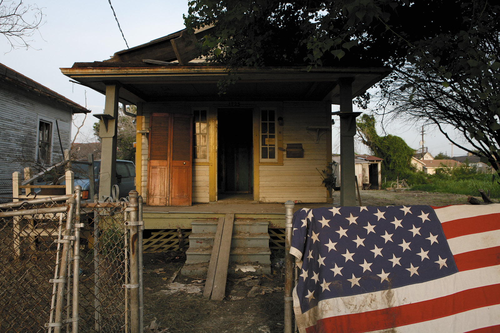 A house damaged by Hurricane Katrina in the Lower Ninth Ward, New Orleans, 2005