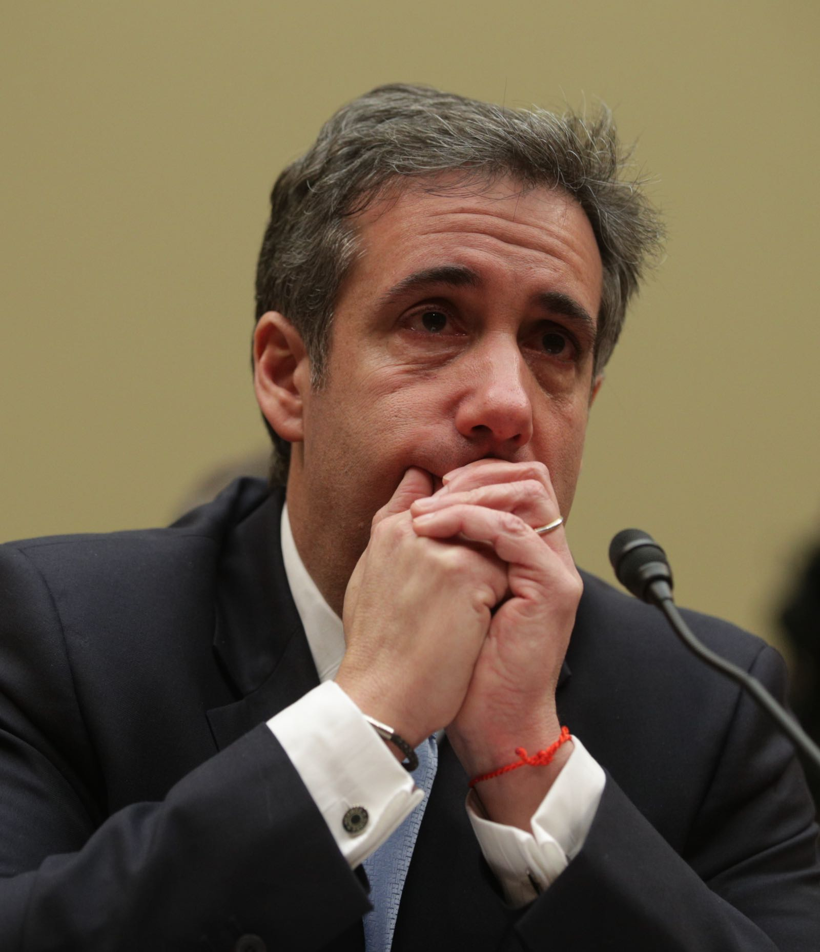 Michael Cohen testifying before Congress