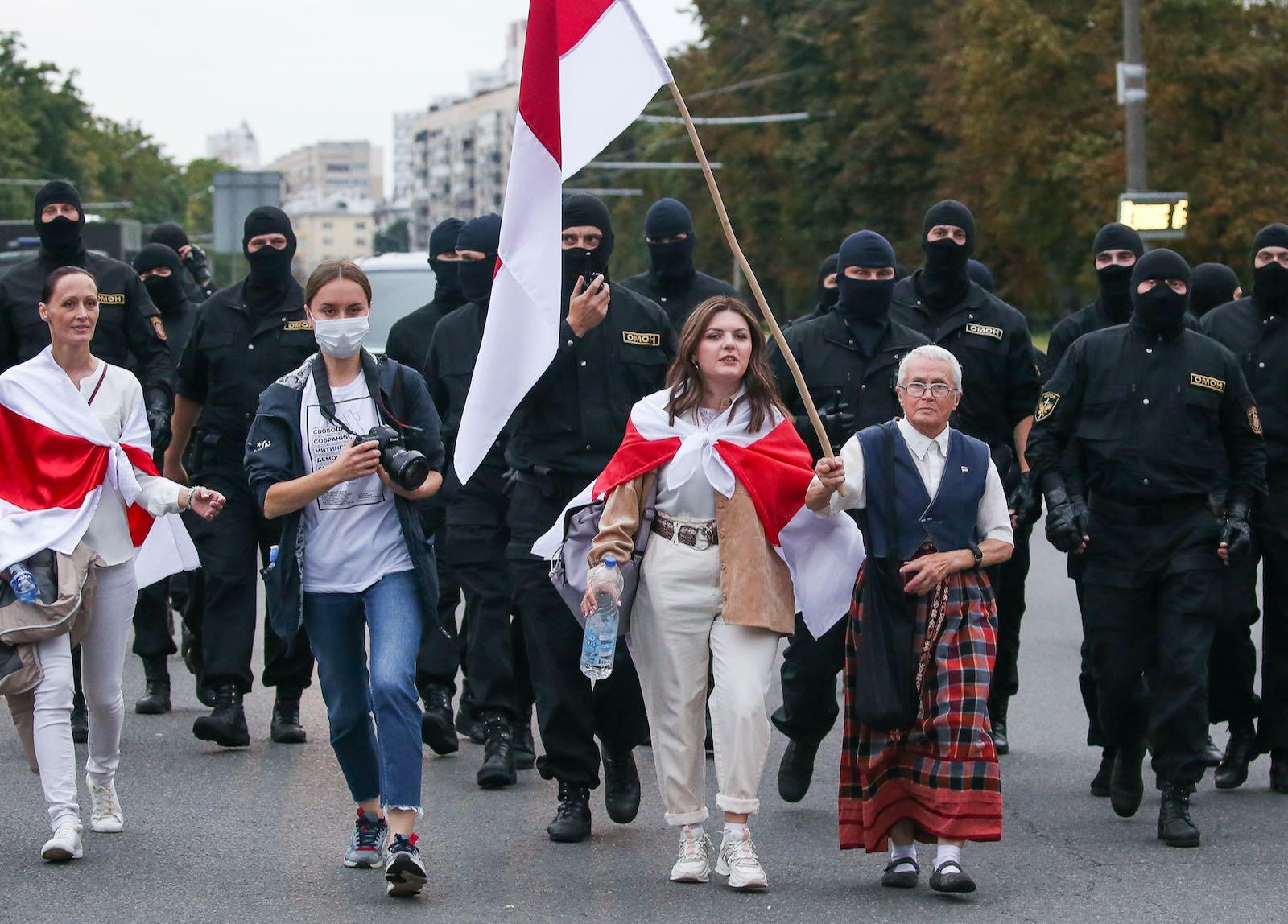 Opposition activist Nina Baginskaya, Minsk