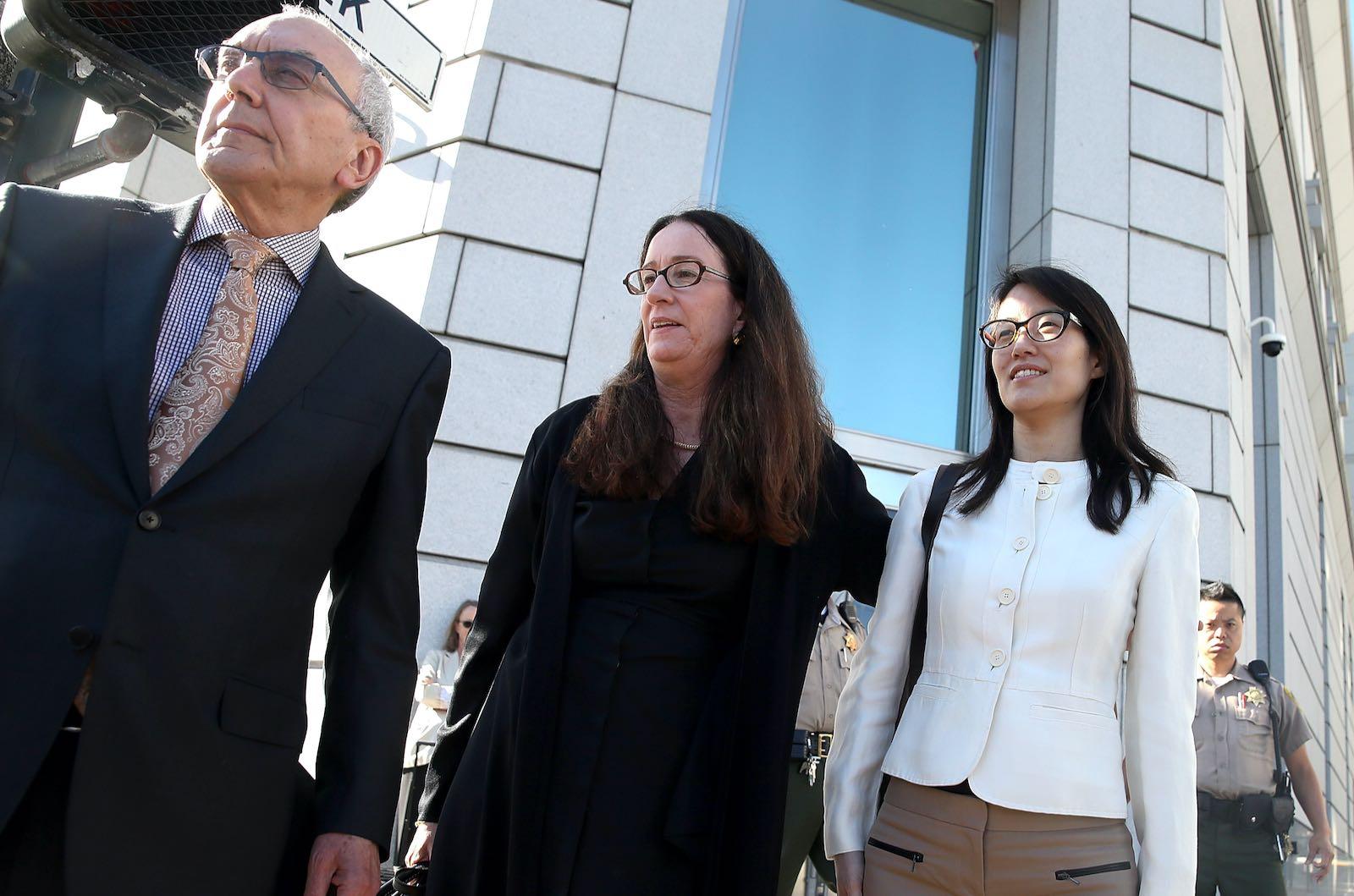 Ellen Pao with attorneys