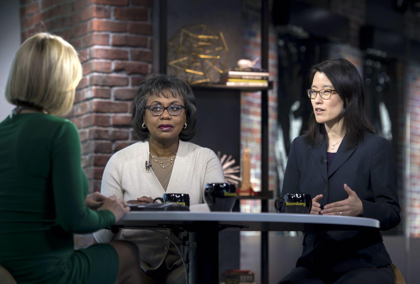 Ellen Pao with Anita Hill