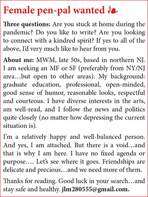 Ad for Pen Pal