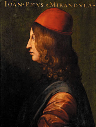 Giovanni Pico della Mirandola; portrait by Cristofano dell'Altissimo, 1560s