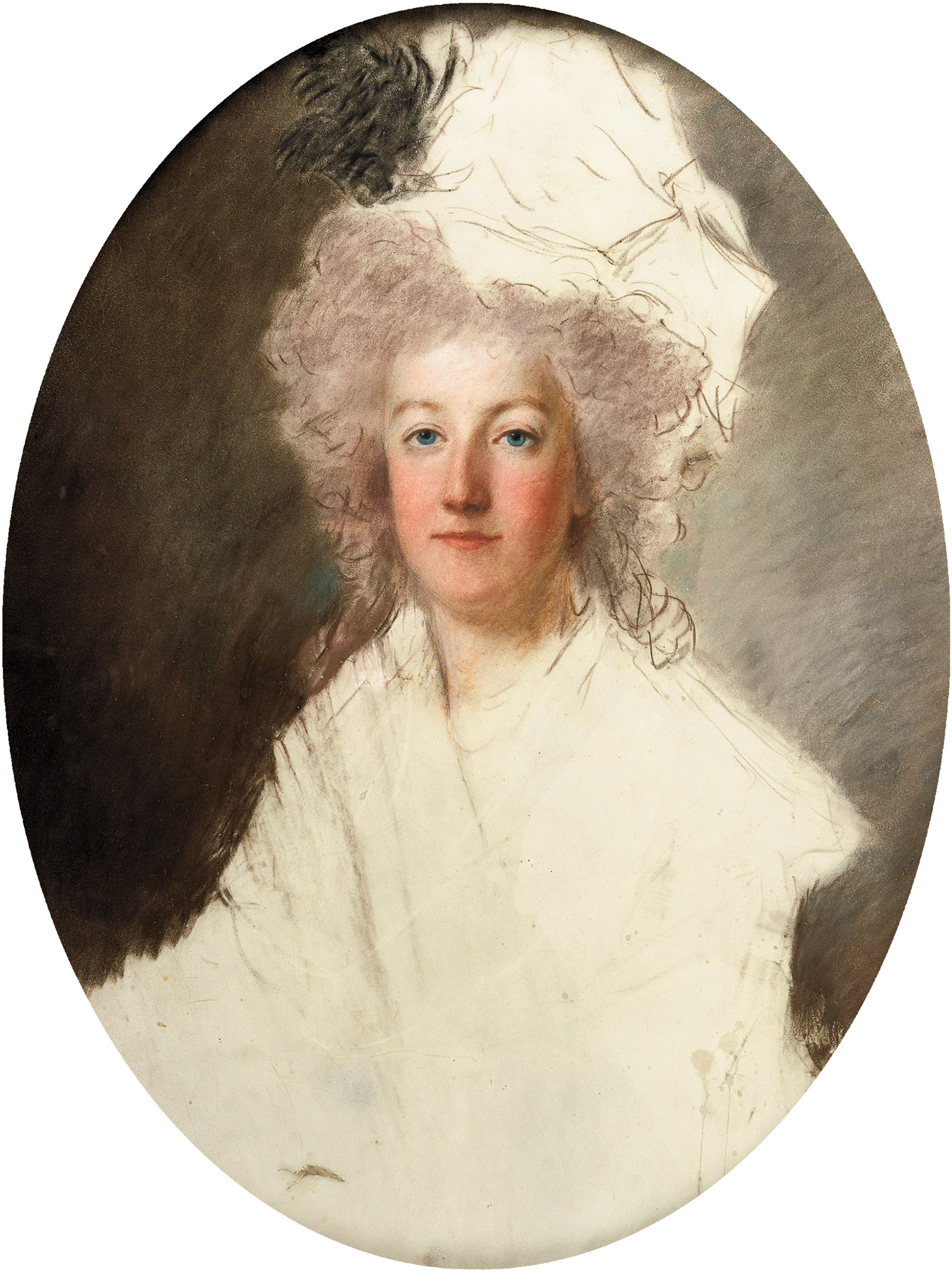 Marie-Antoinette; unfinished portrait by Alexander Kucharsky, 1791–1792