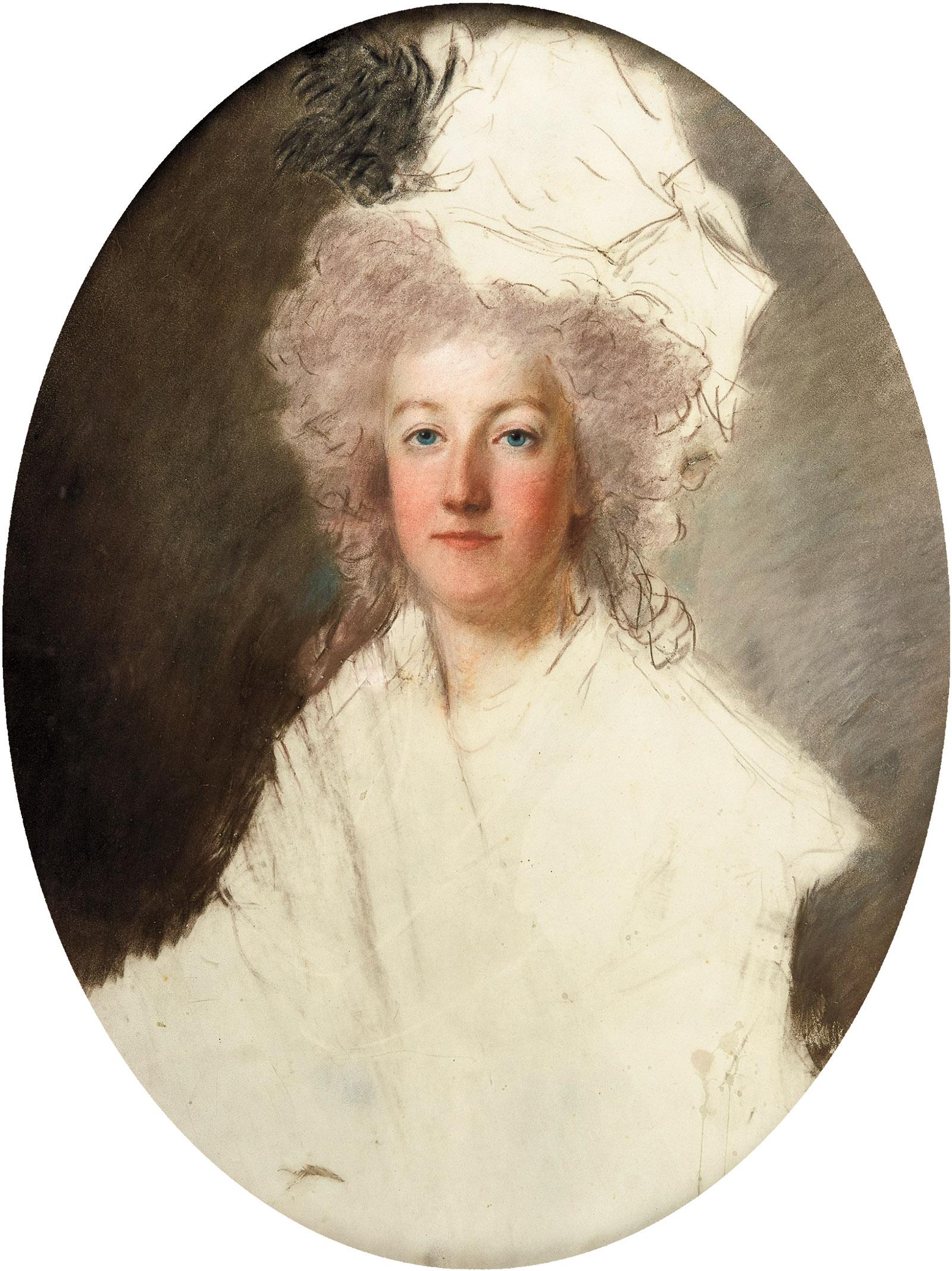 Marie-Antoinette; unfinished portrait by Alexander Kucharsky, 1791–1792