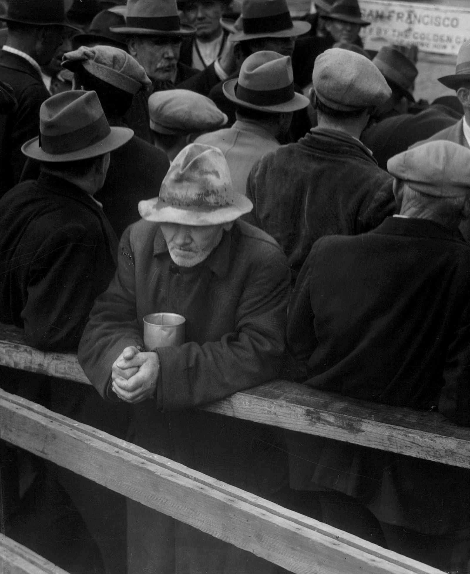 White Angel Bread Line, San Francisco, 1933; photograph by Dorothea Lange