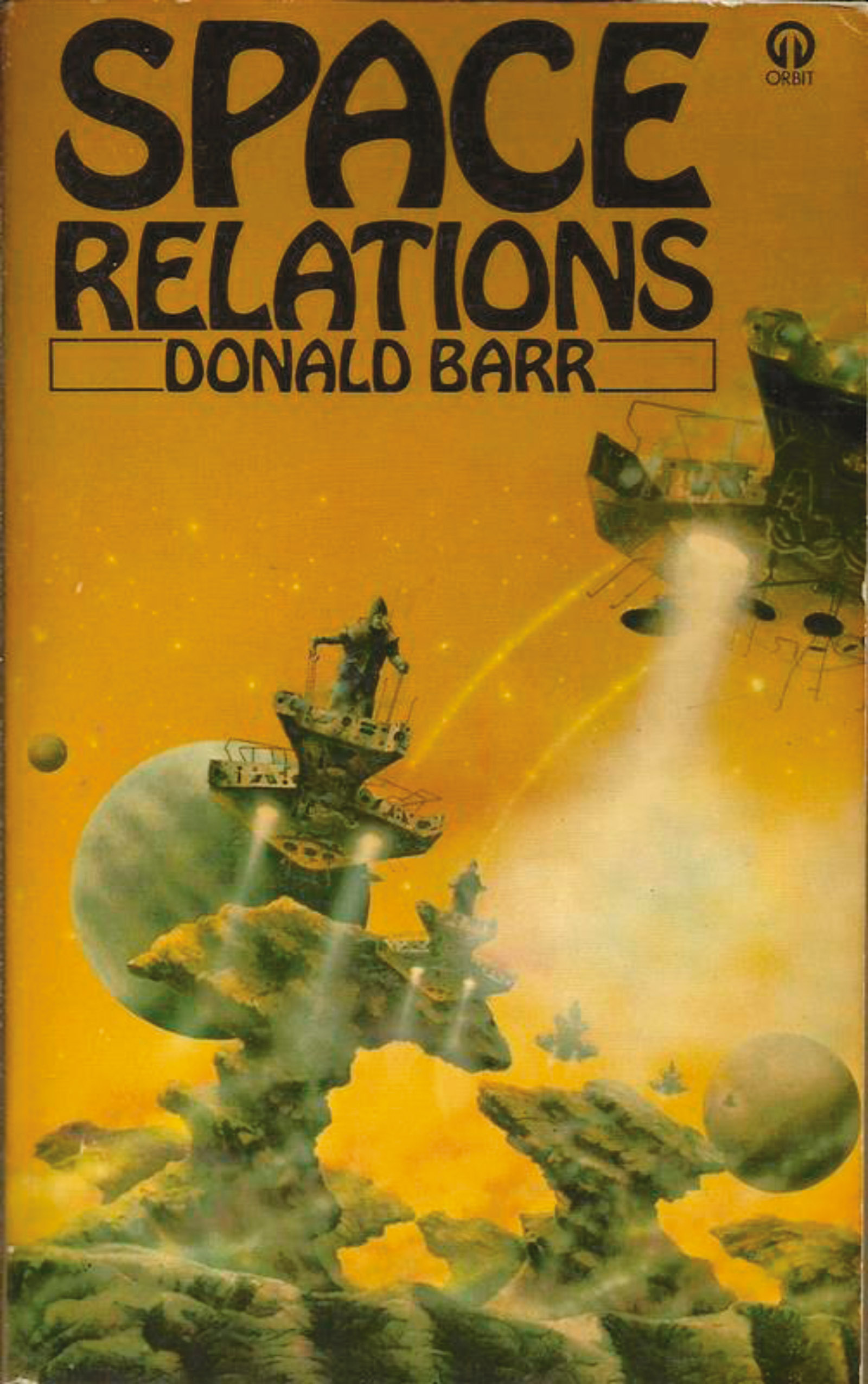 The British cover of Donald Barr's 1973 novel Space Relations