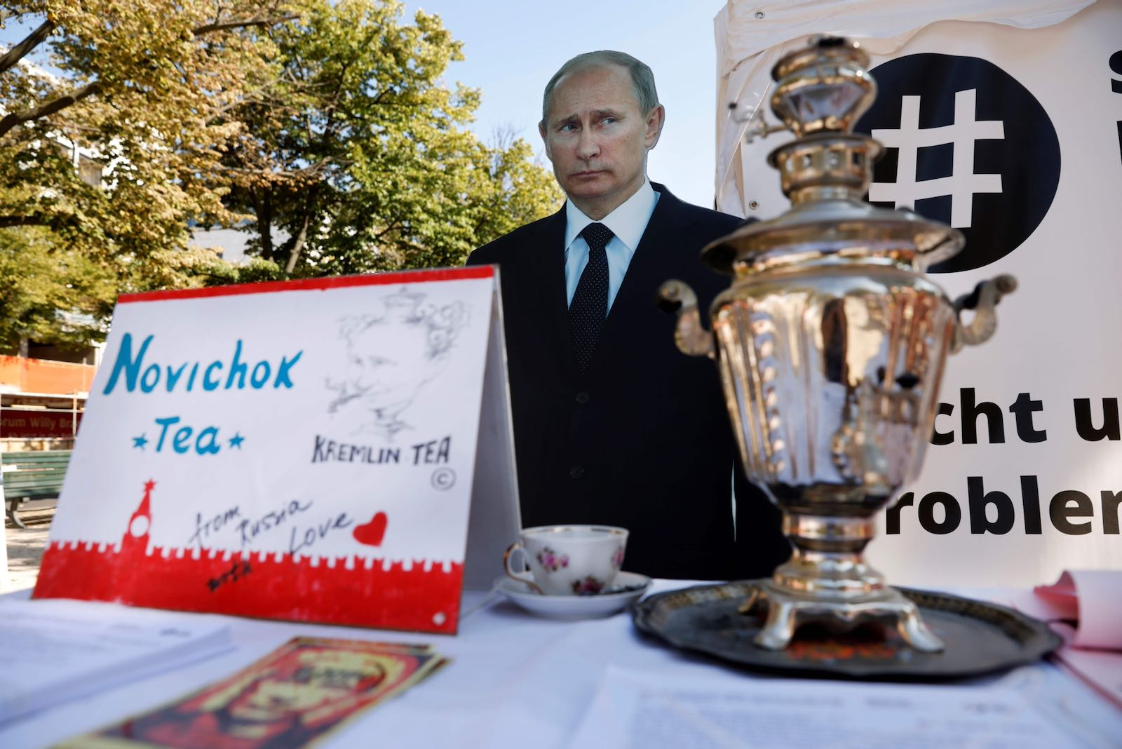 Putin effigy