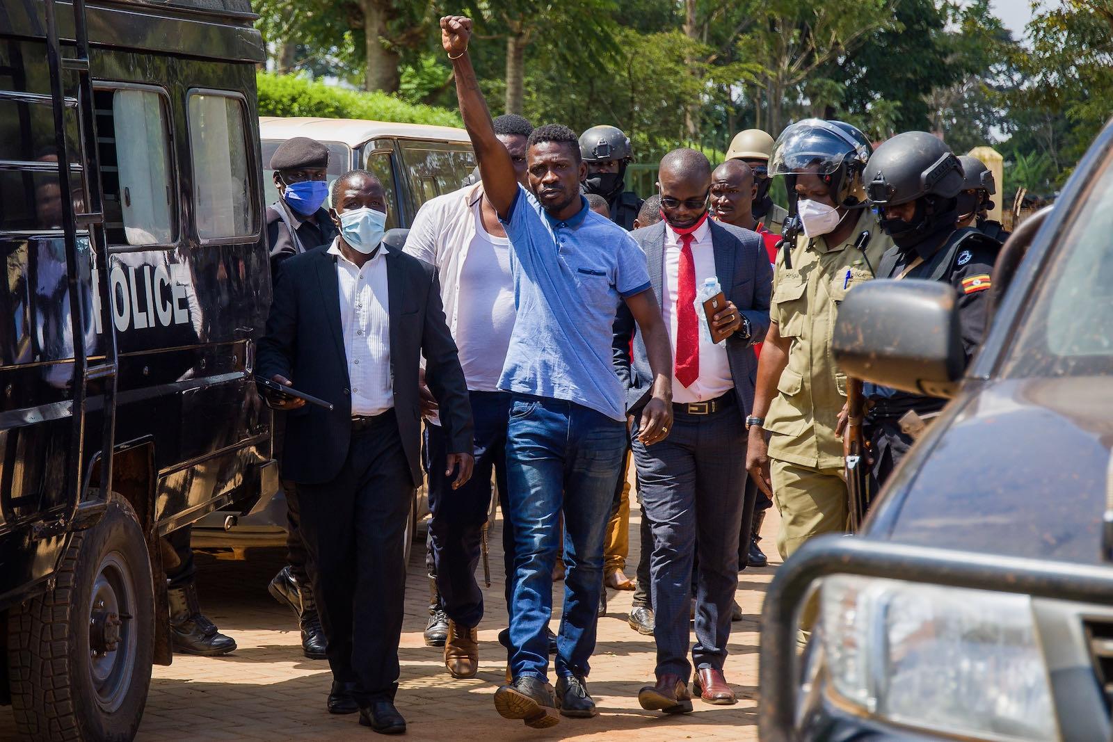 Ugandan opposition leader Bobi Wine