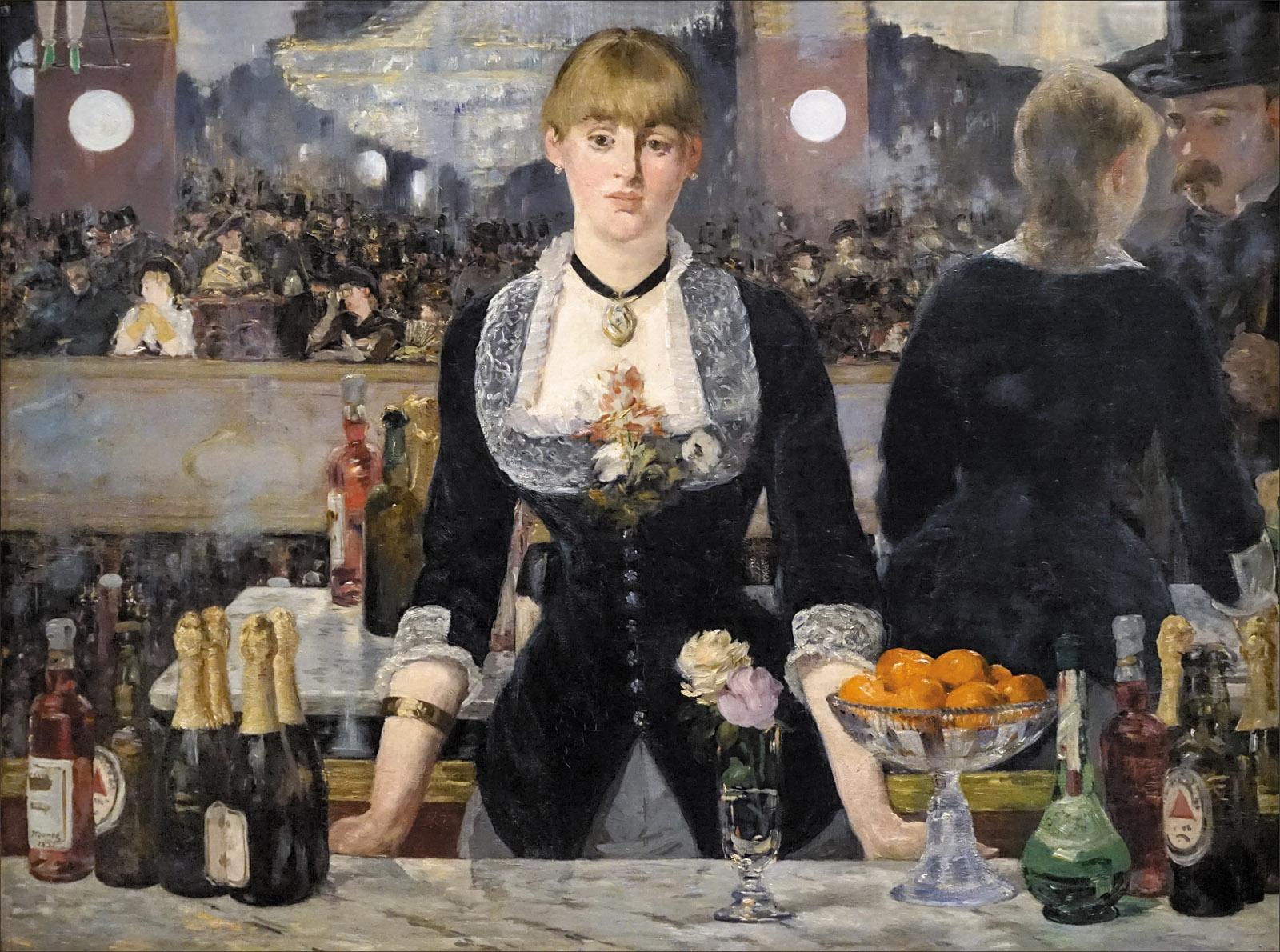 A Bar at the Folies-Bergère; painting by Édouard Manet