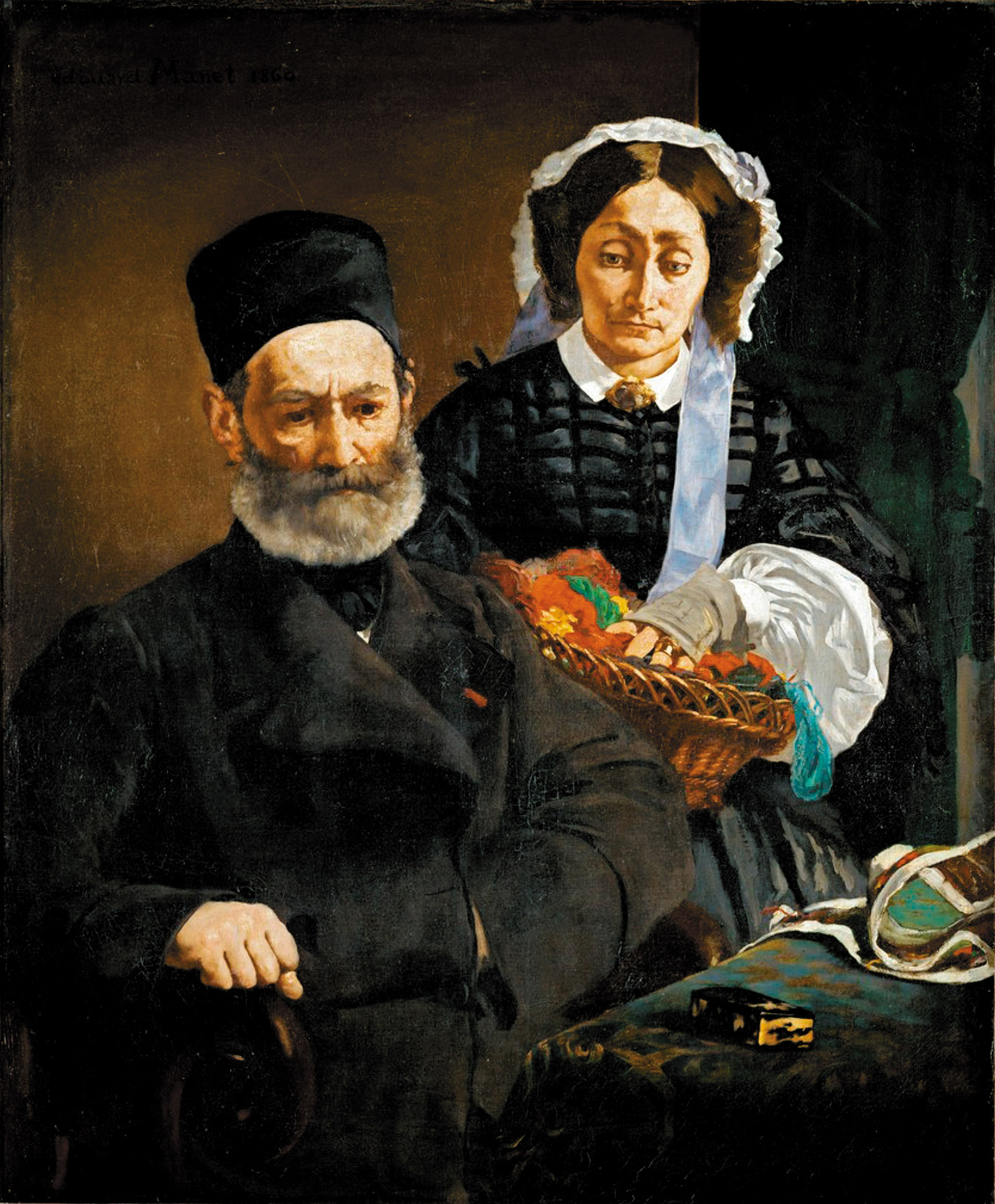 Monsieur and Madame Auguste Manet; painting by Édouard Manet