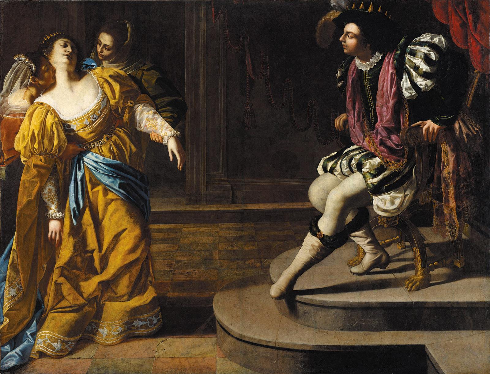 Esther Before Ahasuerus, circa 1628–1630; painting by Artemisia Gentileschi
