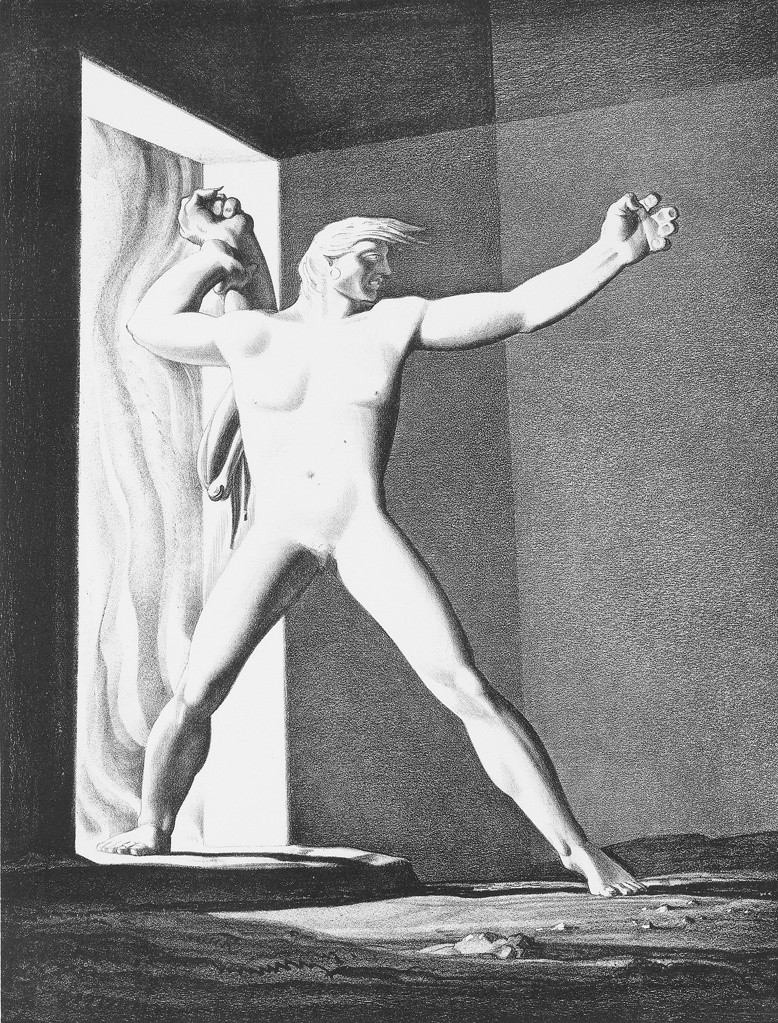 Beowulf; lithograph by Rockwell Kent