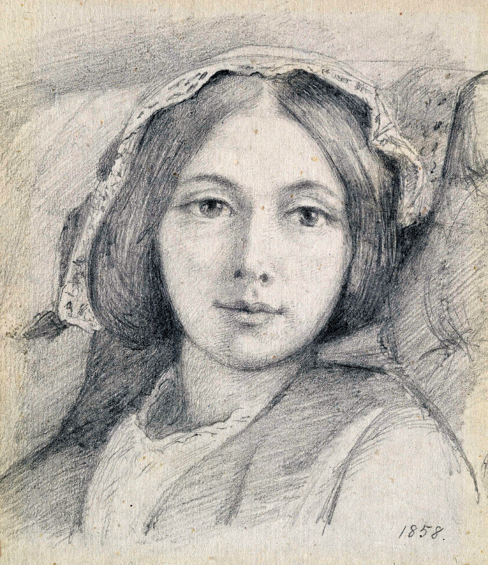 Mary Ellen Meredith; drawing by Henry Wallis