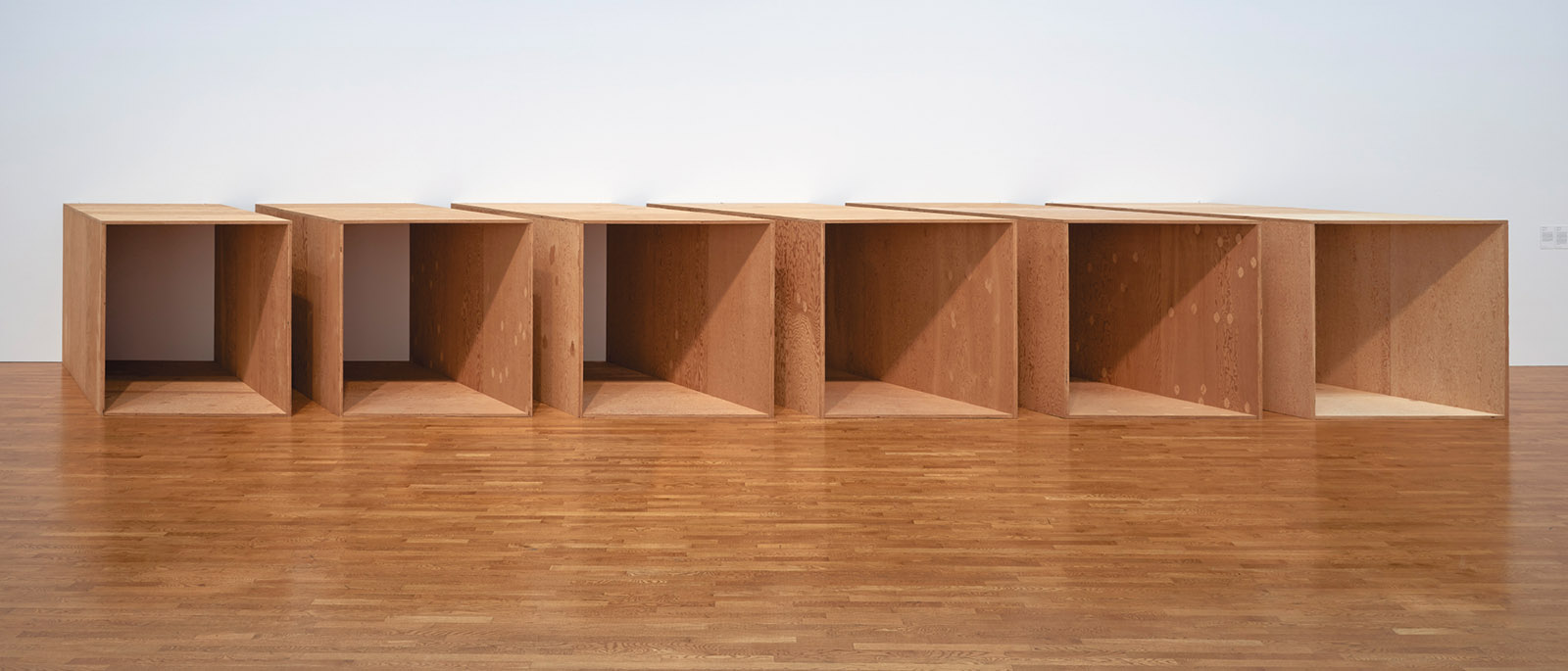 Untitled (DSS 280), plywood, 1973; by Donald Judd