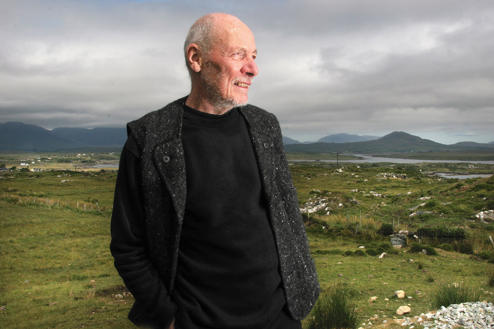 Tim Robinson near his home in Roundstone, Connemara, Ireland