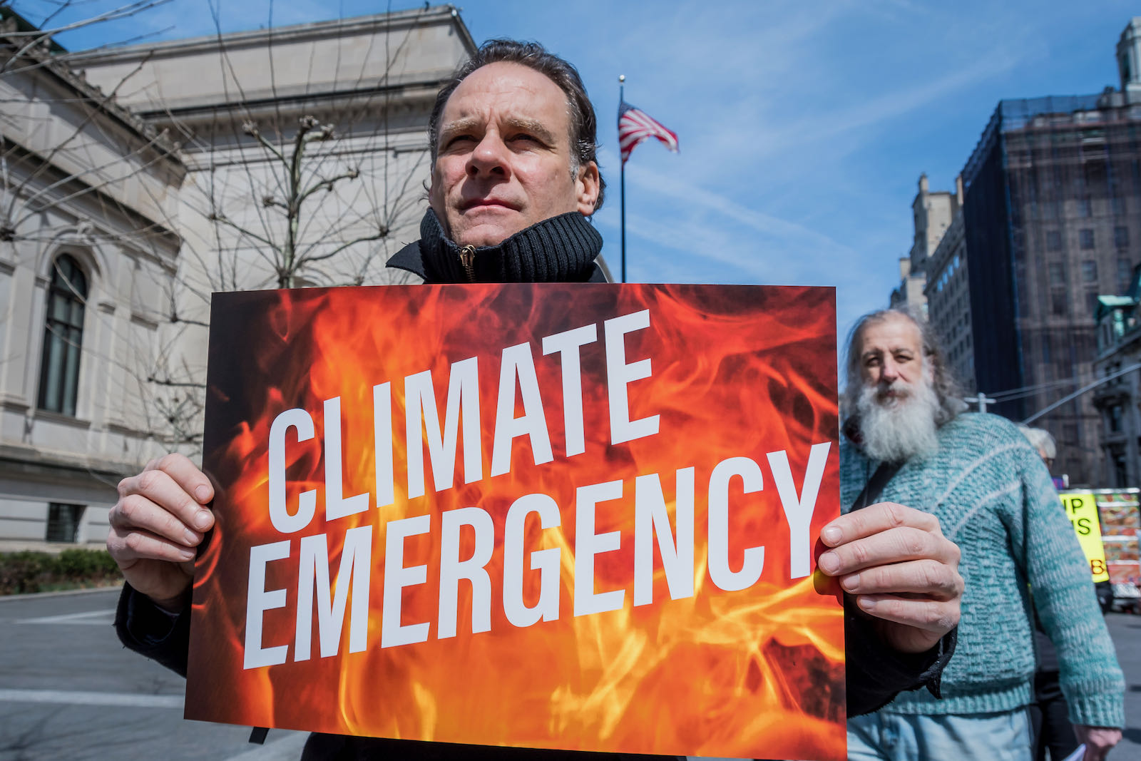 Climate change activists protesting