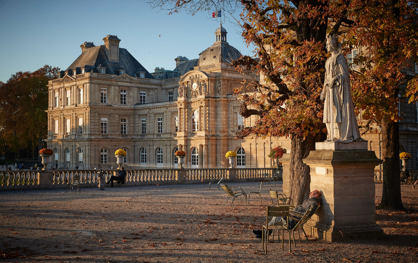 The Jardin du Luxembourg during Covid lockdown